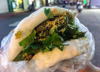 Du lịch Đài Loan - Bánh bao thịt nướng 割包